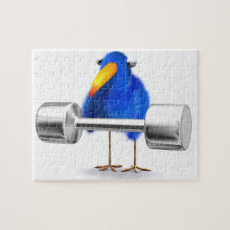3d Blue Bird Weightlifter Puzzles