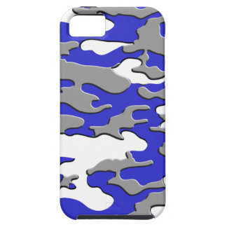 3d blue camo iPhone 5 cover