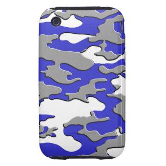 3D BLUE CAMO TOUGH iPhone 3 COVERS