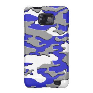 3D BLUE CAMO GALAXY S2 CASE