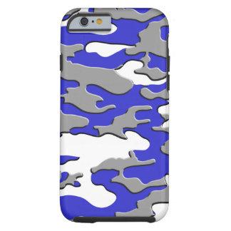3d blue camo tough iPhone 6 case