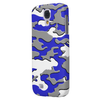 3d blue camo samsung galaxy s4 cover