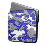 3d blue camo computer sleeves