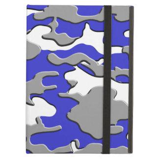 3d blue camo iPad air cover