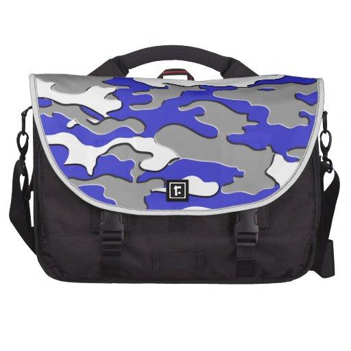 3d blue camo laptop bag