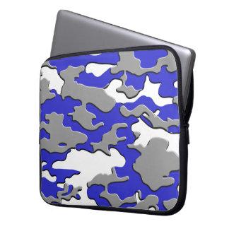 3d blue camo computer sleeves