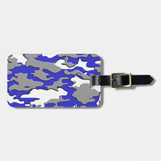3d blue camo tag for luggage