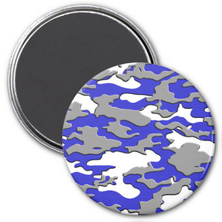 3d blue camo 3 inch round magnet