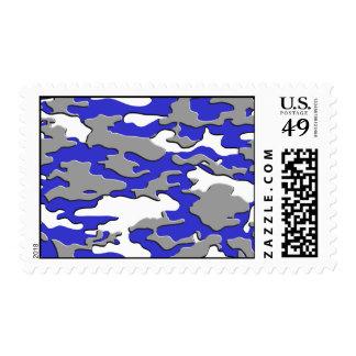3d blue camo postage