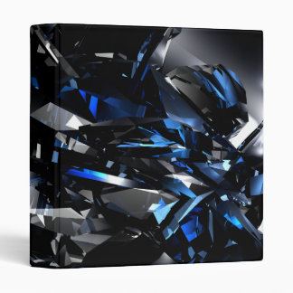 3d Blue crystals Avery Binder