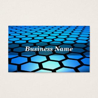 3D Blue Hexagons Background Business Card