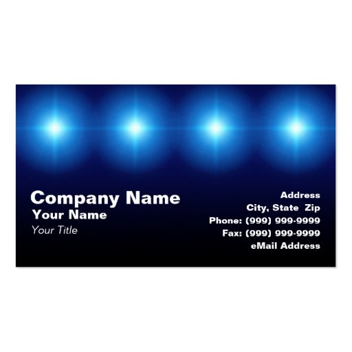 3d blue lights business card templates zazzle for 3d business cards templates
