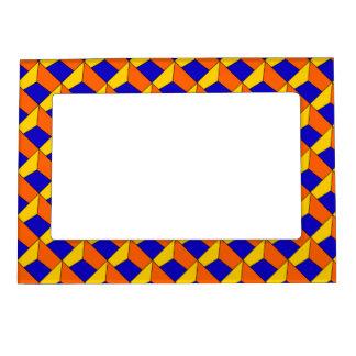 3D Blue Yellow & Orange Magnetic Frame