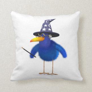 3d Bluebird Cute Wizard Pillow
