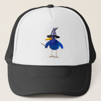 3d Bluebird Cute Wizard Trucker Hat