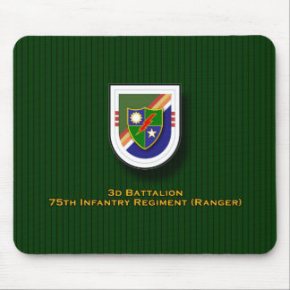 3d Bn, 75th Infantry Regiment - Ranger flash Mouse Pad