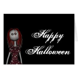 3D Bonga Doll - -Gothy Redhead Happy Halloween Card