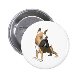 3d boxer dog graphic pinback buttons