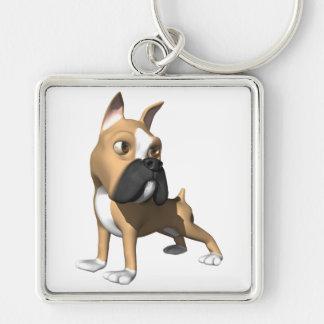 3d boxer dog graphic keychain