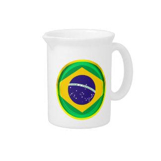 3D Brazil flag Beverage Pitcher