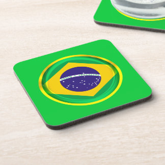 3D Brazil flag Drink Coaster