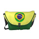 3D Brazil flag Courier Bags