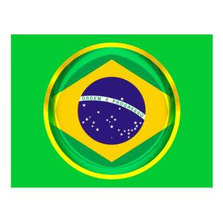 3D Brazil flag Postcard