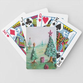3D BRILLO L@@K de árboles de navidad y de regalos Baraja Cartas De Poker
