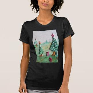 3D BRILLO L@@K de árboles de navidad y de regalos Playeras
