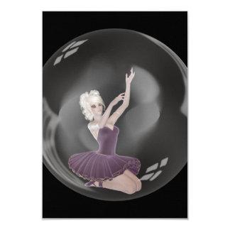 3D Bubble Ballerina 2 Card