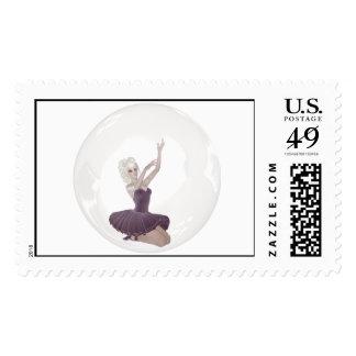 3D Bubble Ballerina 2 Postage