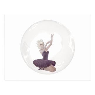 3D Bubble Ballerina 2 Postcard