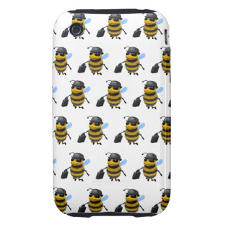 3d Busy Bee Businessman iPhone 3 Tough Covers