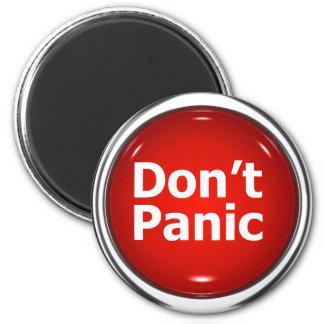 3d Button Don't Panic Magnet