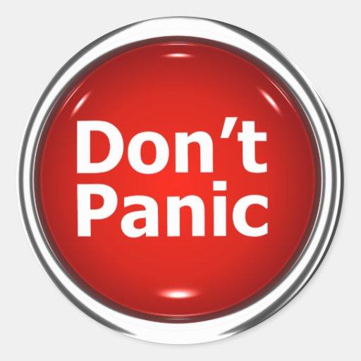 3d button don t panic classic round sticker zazzle