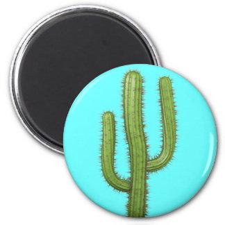 3d Cactus 2 Inch Round Magnet