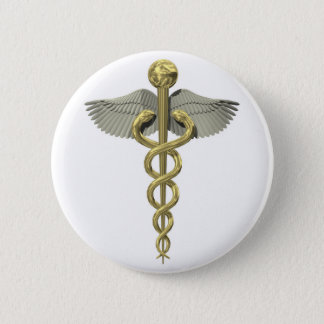 3D Caduceus Button for Medical Occupations