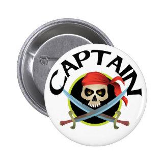 3D Captain Pinback Buttons