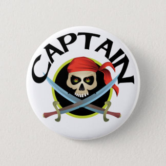 3D Captain Pinback Button
