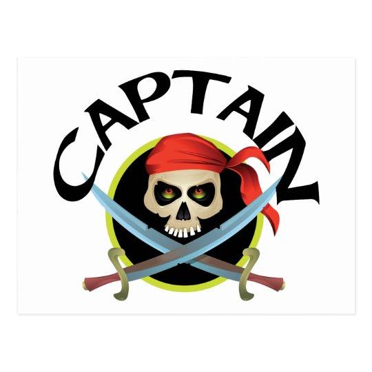 3D Captain Postcard