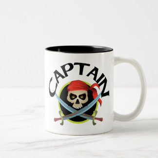 3D Captain Two-Tone Coffee Mug