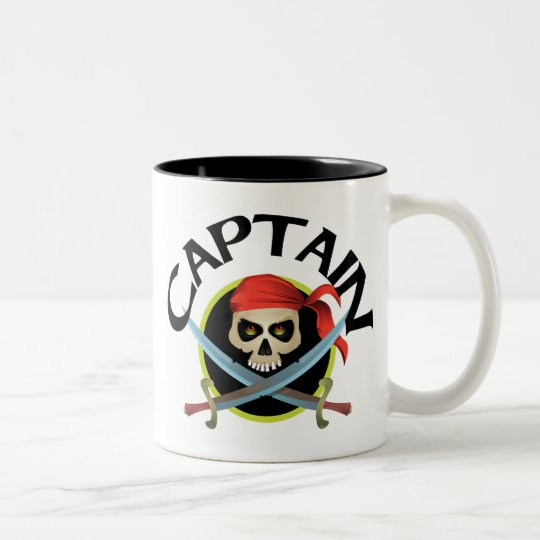 3D Captain Two-Tone Coffee Mug