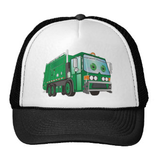 3d Cartoon Garbage Truck Green Trucker Hat