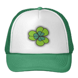 3D Cartoon Shamrock Green Hats