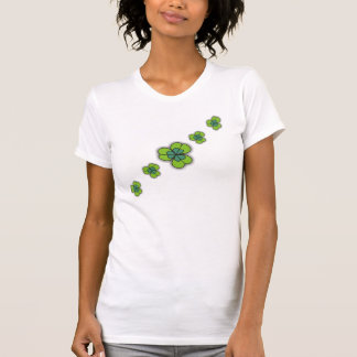 3D Cartoon Shamrocks Irish T-Shirts