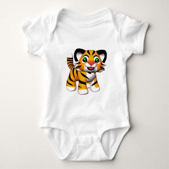 3D Cartoon Tiger Baby T-Shirt