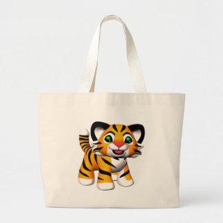 3D Cartoon Tiger Cub Tote Bag