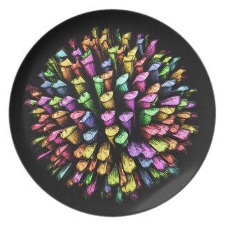 3D Chalk Sticks 1A Plate