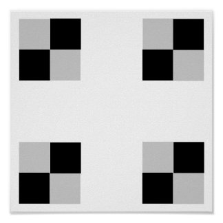 "3D Checkers TAG Board (1-1/4"" fridge magnets) Poster"