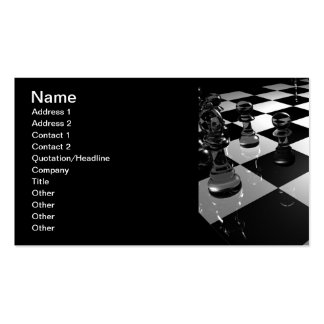 3d_chess_board_wallpaper_3d_models_3d_wallpaper_19 Double-Sided standard business cards (Pack of 100)